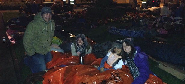 Work Company staff take part in Manchester Sleepout
